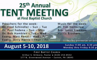 Tent Meeting 2018 Online